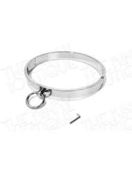 "17.75"" Single Ring Bondage Collar Neck Restraint Choker W/ Magnetic Locking Pin by Unbranded"