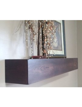 "42"" Long Floating Wall Shelf / Beam / Mantel / Box Shelf by Etsy"