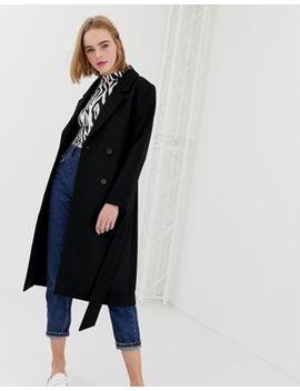 Monki Midi Tailored Coat In Black by Monki