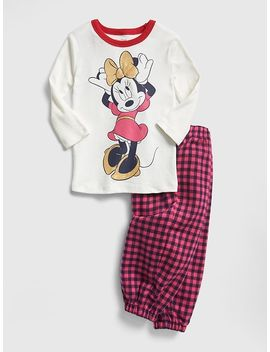 Baby Gap | Disney Minnie Mouse Flannel Pj Set by Gap