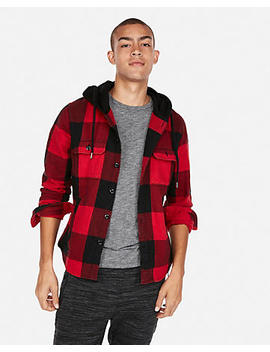 Plaid Hooded Flannel by Express