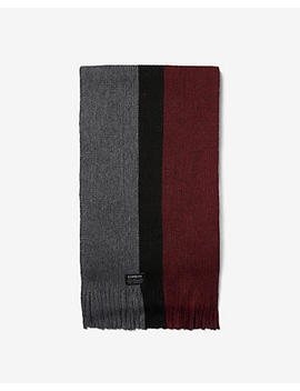 Vertical Stripe Merino Wool Blend Scarf by Express