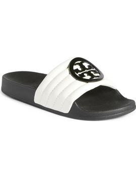 Lina Quilted Logo Slide Sandal by Tory Burch
