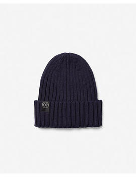 Ribbed Turnback Beanie by Express