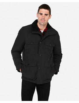 Solid Sherpa Field Jacket by Express