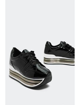 More Into Vinyls Platform Sneaker by Nasty Gal