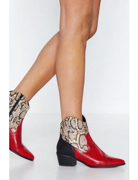 Add These To The Mix Snake Boot by Nasty Gal