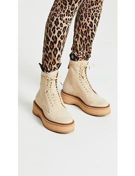 Single Stack Suede Boots by R13