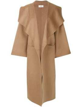 Camel Oversized Coat by Toteme