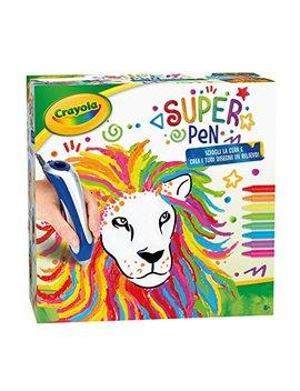 Crayola Super Pen Per Sciogliere I Pastelli A Cera E Creare Disegni In Rilievo, 25 0384 by Crayola