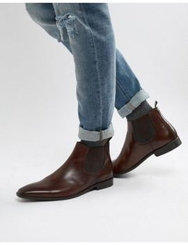 Dune Chelsea Boots In Brown Leather by Dune