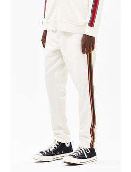 Pac Sun Side Stripe Tricot Natural Track Pants by Pacsun