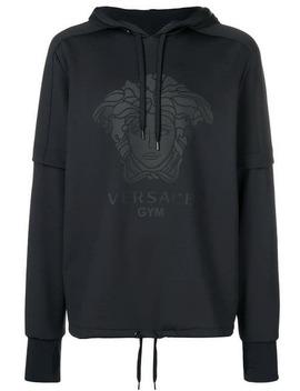 Logo Print Hoodie by Versace