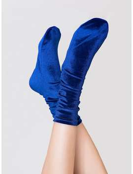 Velvet Socks 1pair by Romwe