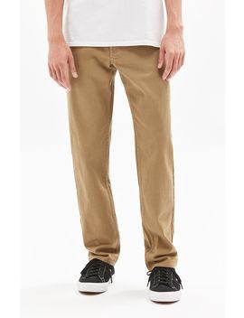 Pac Sun Straight Leg Khaki Jeans by Pacsun