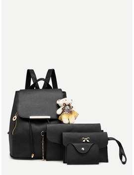 Bear Decor Combination Bag 4pcs by Romwe