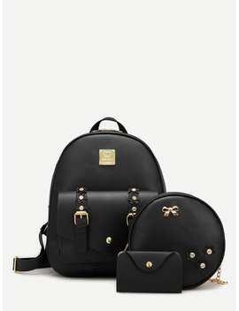 Applique Decor Combination Bag 3pcs by Romwe
