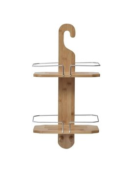 Evideco Bamboo Bath Wall Shower Tub Hanging Shower Caddy 2 Shelves by Evideco