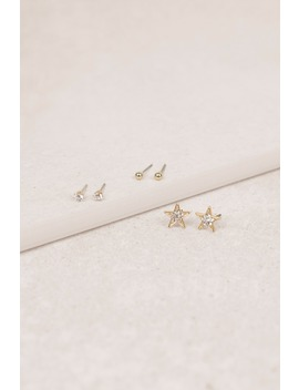 Starlie Gold Stud Earring Set by Tobi