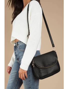 Cassey Black Crossbody Bag by Tobi