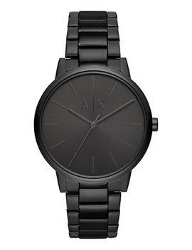 A|X Men's Cayde Black Stainless Steel Bracelet Watch 42mm by Armani Exchange