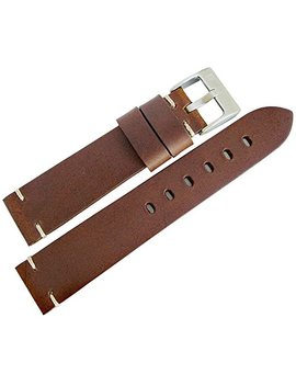 Cola Reb 20mm Siena Brown Distressed Leather Mens Watch Strap Made In Italy by Cola Reb
