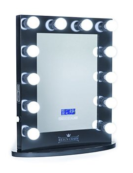Reign Charm Hollywood Vanity Mirror Bluetooth Audio Enabled Led Light Bulbs, Black by Reign Charm