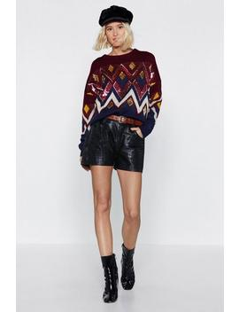 Sequin Diamond Xmas Jumper by Nasty Gal