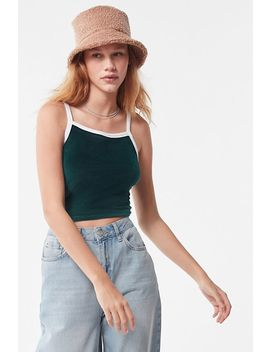 Uo Rae Velvet Cropped Tank Top by Urban Outfitters