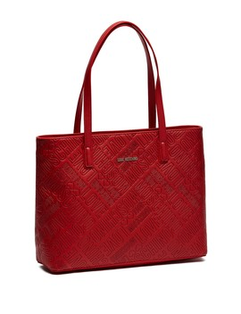 Embossed Pu Leather Tote Bag by Love Moschino