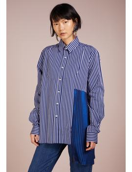 Pinstriped Tuxedo Shirt With Metallic Pleated Detail   Skjortebluser by Each X Other
