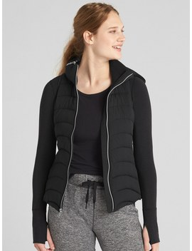 Gap Fit Lightweight Puffer Vest With Hidden Hood by Gap