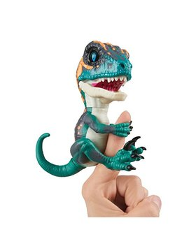 Untamed Raptor By Fingerlings   Fury (Blue)   Interactive Collectible Dinosaur   By Wow Wee by Wow Wee