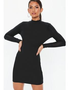 Black High Neck Mini Dress by Missguided