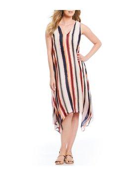 Lisa Chiffon Stripe Swing Dress by Alex Marie