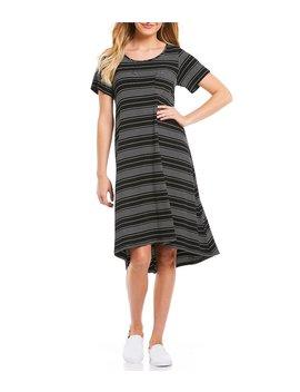Stripe Hi Low Tee Dress by Gibson &Amp; Latimer