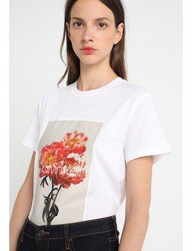 Flower Graphic   T Shirts Print by Calvin Klein