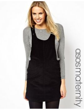 Asos Maternity Pinafore Dress In Cord by Asos Maternity
