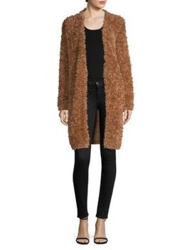 Furry Open Front Coat by M Missoni