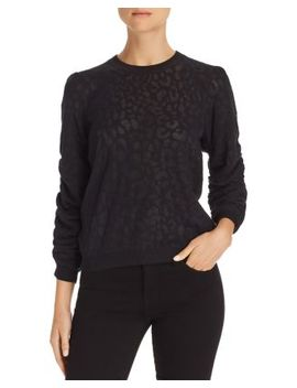 Itana Leopard Burnout Sweater by Joie