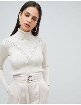 Fashion Union –  Hochgeschlossener, Strukturierter Strickpullover by Asos