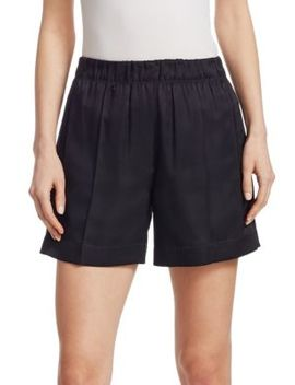 Silk Elasticized Shorts by Helmut Lang