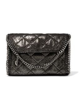 Quilted Coated Faux Leather Shoulder Bag by Stella Mc Cartney
