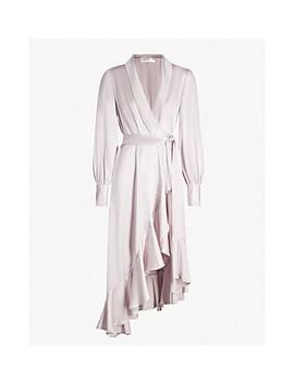 Silk Satin Wrap Dress by Zimmermann