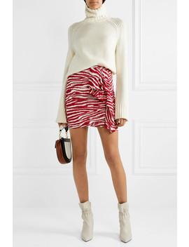 Jerine Ruffled Zebra Print Chiffon Mini Skirt by Isabel Marant Étoile