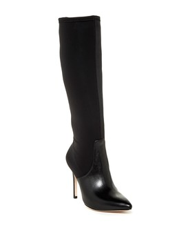Melissa Tall Leather Stiletto Boot by Halston Heritage