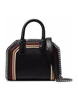 Chain Trimmed Quilted Faux Suede And Leather Tote by Stella Mc Cartney