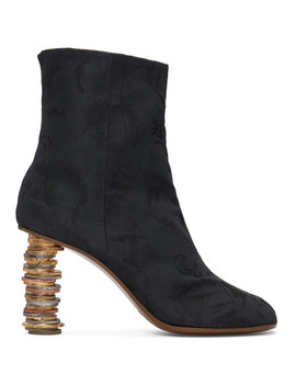 Black Geisha Coin Ankle Boots by Vetements