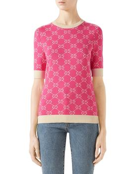 Gg Jacquard Logo Sweater by Gucci