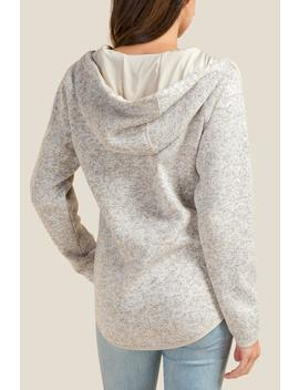 Carmen Snap Front Hooded Sweater by Francesca's